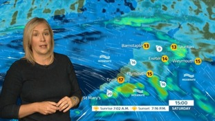 Weather: cloudy with showers