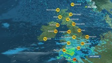 Autumnal weather for most with heavy rain and chilly winds