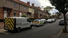 Officers found the bodied of a man and woman inside a house on Shrewsbury Crescent.