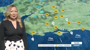 Sunday's weather for the west