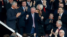 Hero's welcome for Sir Alex to Old Trafford