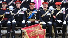 Charles presents regiment with new military standard