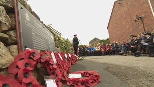 A memorial plaque was unveiled at the scene of the accident in Darrington - where the bomber came down during a training exercise in 1943.