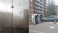 Watch a sky of debris and eerie aftermath of Quebec tornado