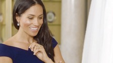 Meghan reveals 'something blue' wedding dress secret