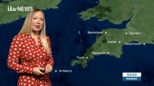 Your latest weather for the South West with Philippa Drew