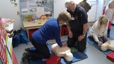 Experts teach the public how to save a life