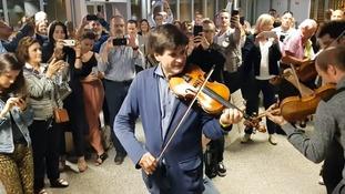 Delayed musicians treat fellow passengers to stunning rendition of Vivaldi at Geneva Airport