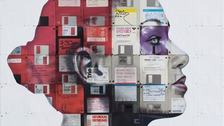 Obsolete floppy disks and videotapes turned into artwork