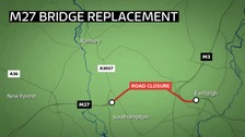 Major diversions for M27 weekend closure