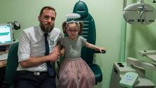First eye check uncovers five-year-old's brain tumour