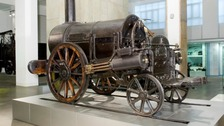 Railway mania as Stephenson's Rocket finally comes home