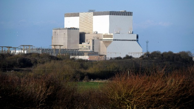 Hinkley Point nuclear power station in Somerset where two reactors are set to be built.