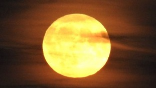 Spectacular pictures from across Wales of last night's Harvest Moon