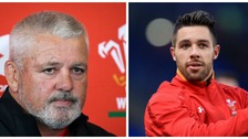 Warren Gatland and Rhys Webb