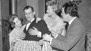 Elspet Gray (l) rehearses in 1960 with Maroy Wilson, Rona Anderson and Brian Rix.