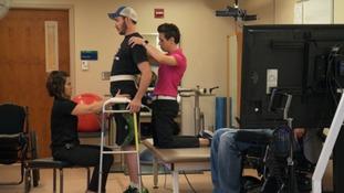 Pioneering electrical implant help paralysed man walks again
