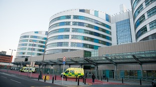 A general view of main entrance of the Queen Elizabeth Hospital Birmingham.