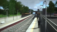A CGI of what Kings Heath station will look like.