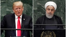 Trump and Iran exchange blows at UN General Assembly