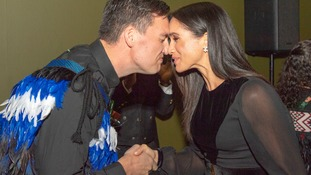 Meghan gets a Maori greeting on her first solo engagement