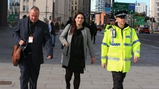 Luciana Berger MP with police officer