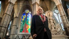 David Hockney's stained glass window tribute to Queen unveiled