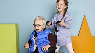 Twins Edward and Celia tried out the new range from M&S
