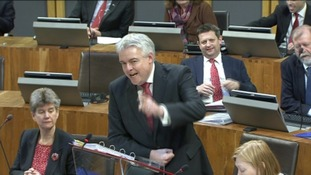 First minister Carwyn Jones showing who's Boss