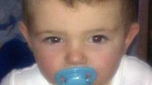 Jamie Heaton, aged two, who died in an explosion in Oldham.