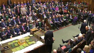 Prime Minister David Cameron speaks during Prime Minister's Questions in the House of Commons.