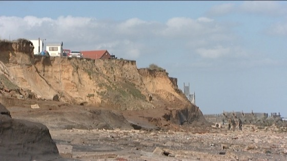 Threatened homes in Happisburgh