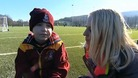 ITV News' Natalie Pirks with Jake.