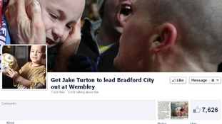 The facebook page to support Jake has had over 7,000 'likes.