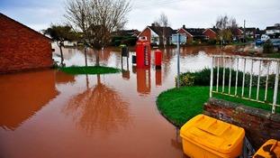 flooded cul-de-sac