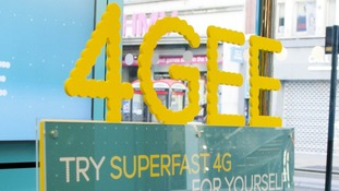 EE&#x27;s promotional campaign for superfast 4G