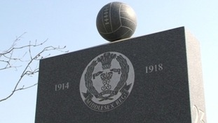 The Footballers' Battalions memorial at Delville Wood in France.