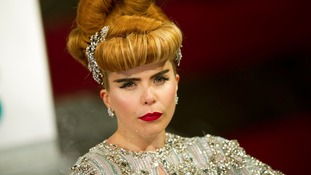Paloma Faith attending the Bafta Awards, at the Royal Opera House in central London.
