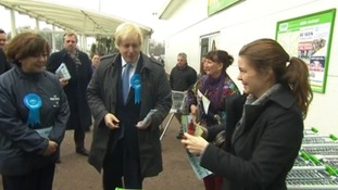 Boris Johnson with Conservative Eastleigh candidate