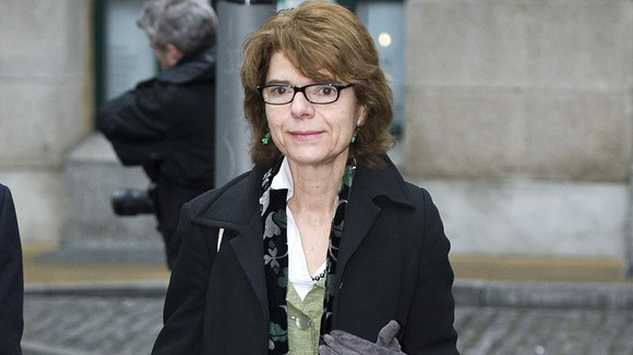Vicky Pryce arriving at court this morning
