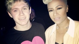 One Direction's Niall Horan and Emeli Sande at the Brits 2013 dress rehearsal