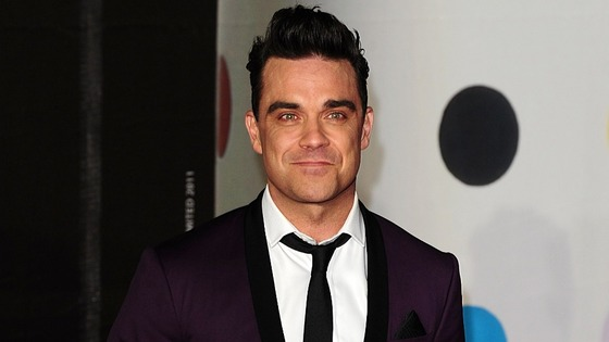 Robbie Williams arriving for the 2013 Brit Awards