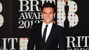 Tom Daley arriving for the 2013 Brit Awards at the O2 Arena, London.