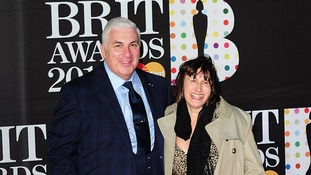 Mitch and Janis Winehouse arriving for the 2013 Brit Awards at the O2 Arena, London.