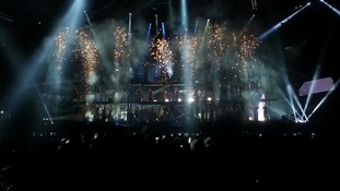 Muse performing at the Brit Awards 2013