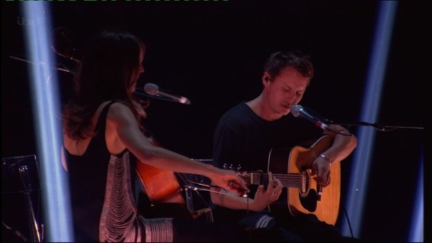 Ben Howard performing at the Brits