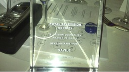 ITV won an RTS Award for coverage of the Jimmy Savile abuse scandal
