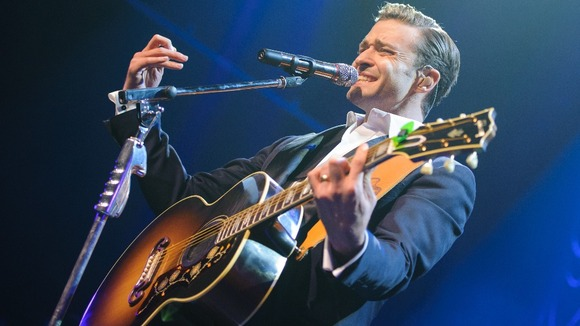 Justin Timberlake performs at the Brit Awards aftershow party