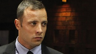 Oscar Pistorius seen in court yesterday