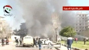 A huge plume of smoke has been seen in Damascus after a massive explosion